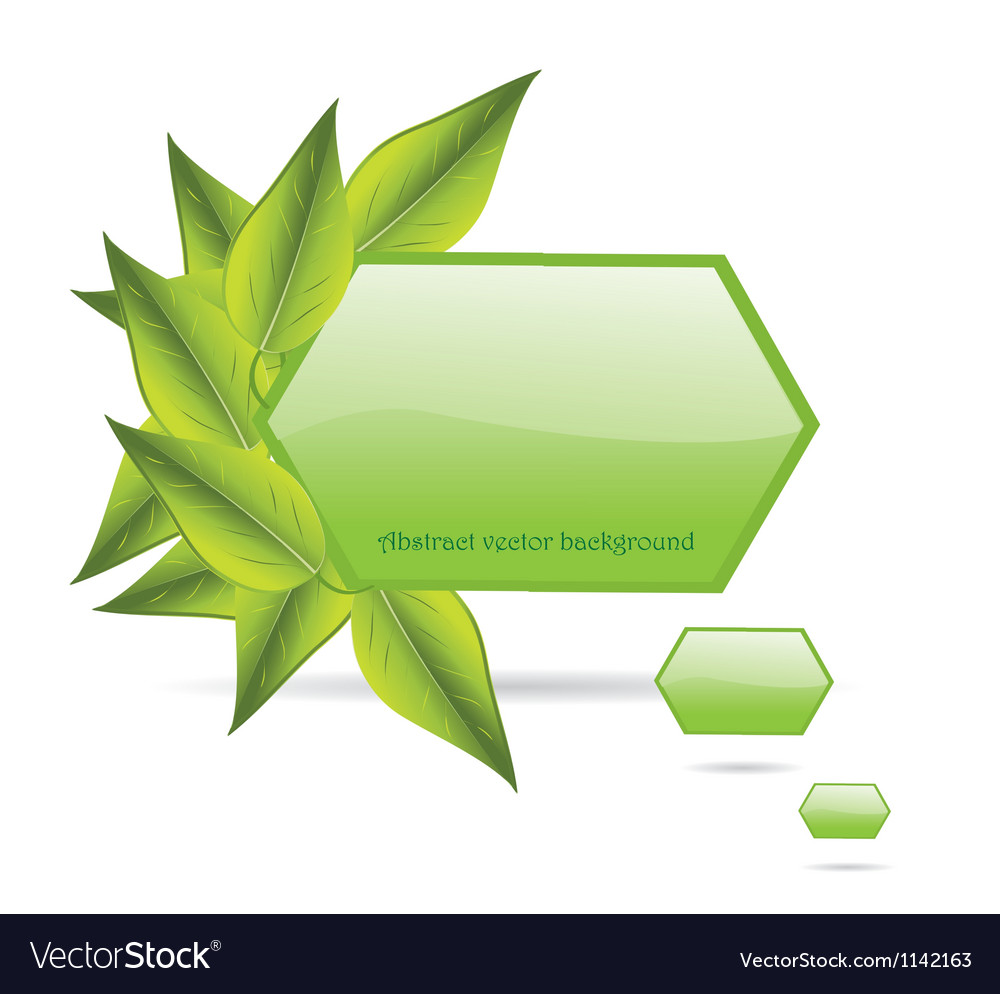 Leaves with copy space vector