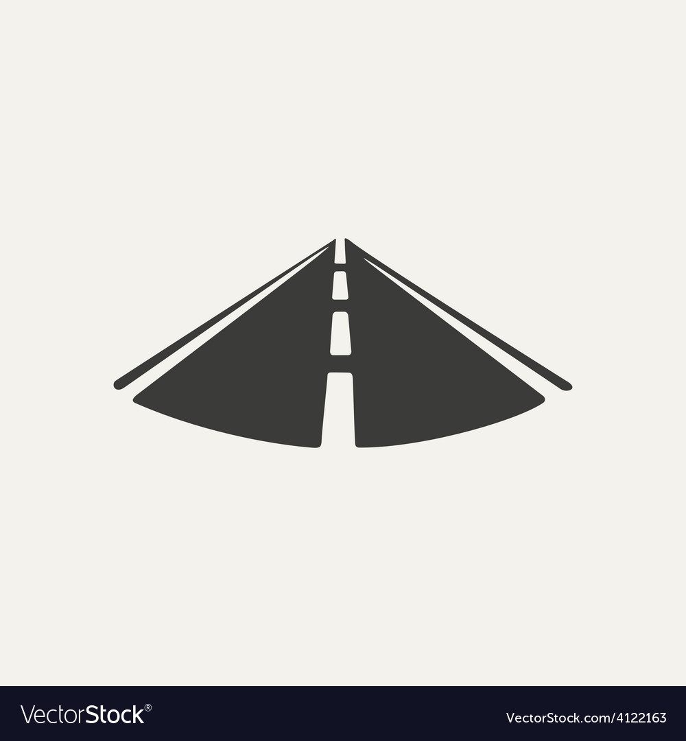 Road black and white style vector
