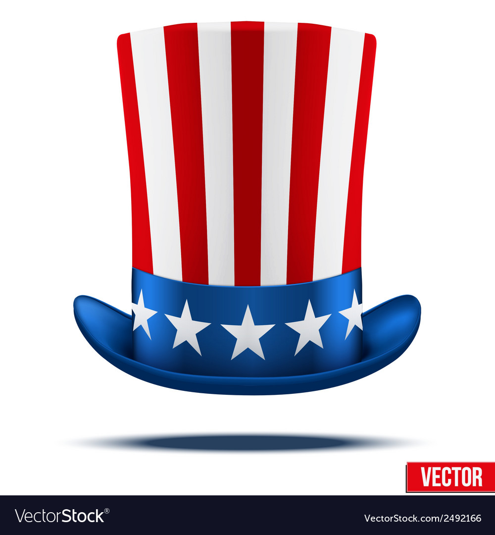 Uncle sams hat vector