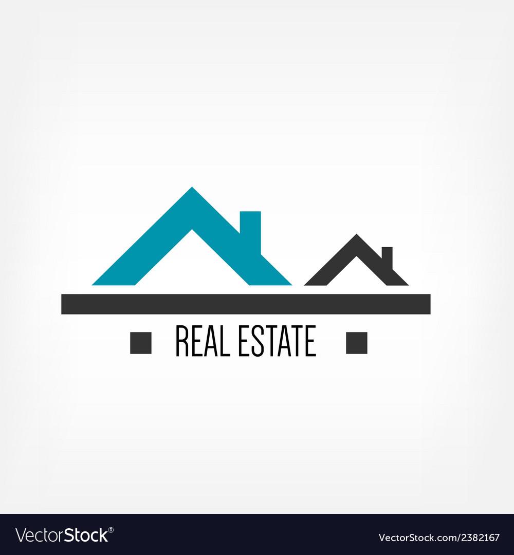Real estate design template vector