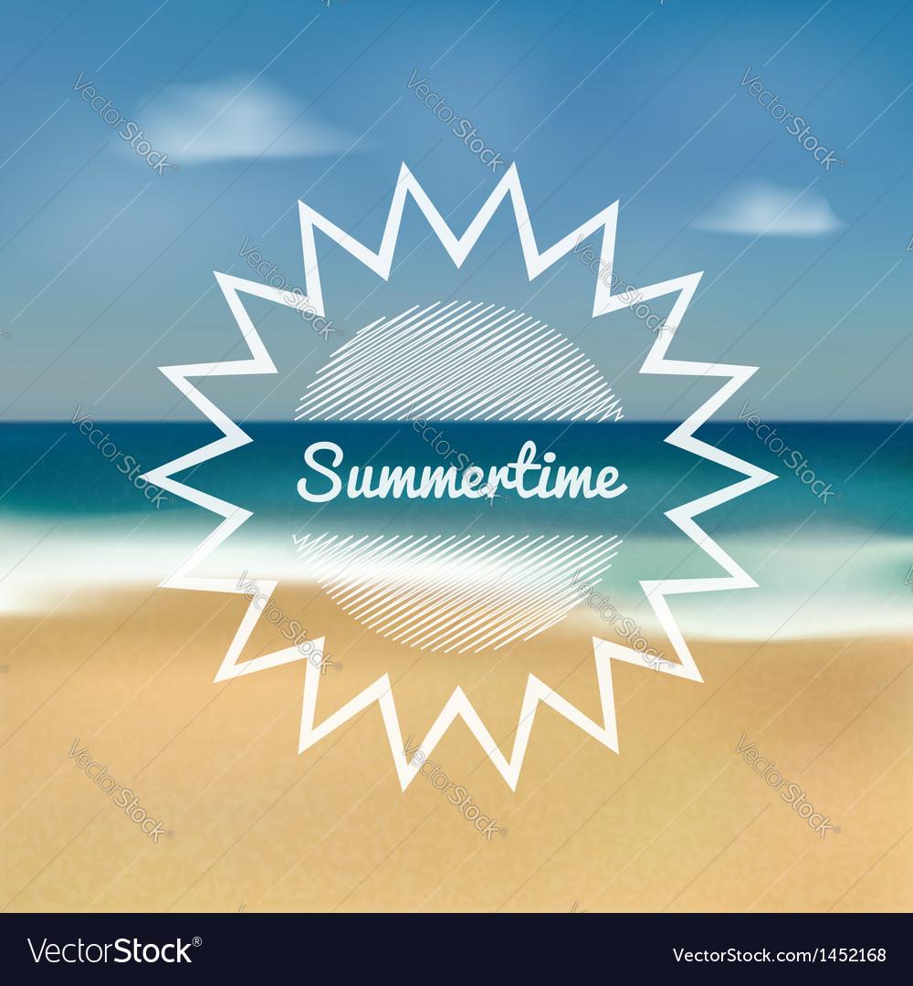 Summertime beach vector