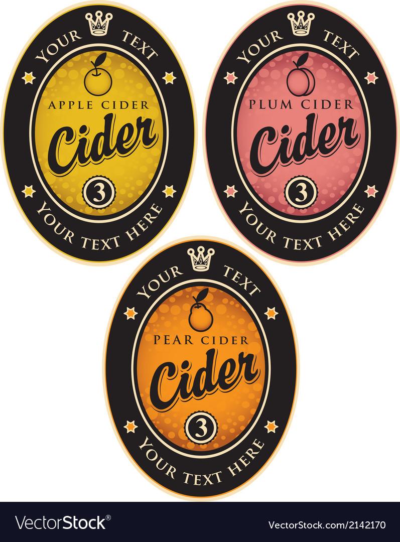 Labels for cider vector