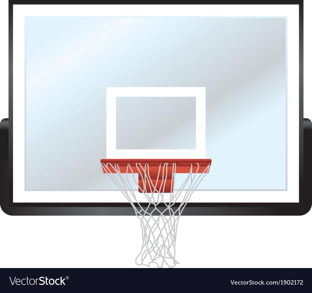 Basketball backboard and hoop vector