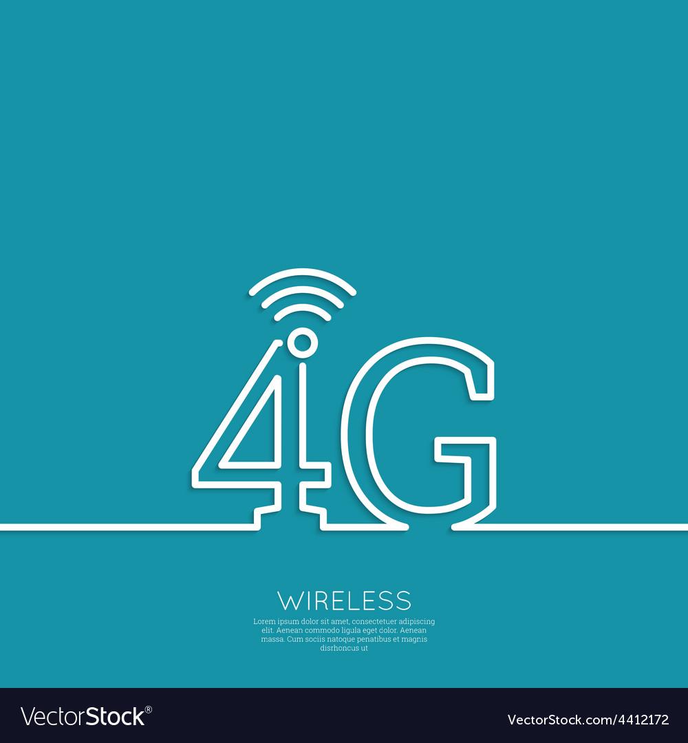 Icon wireless vector