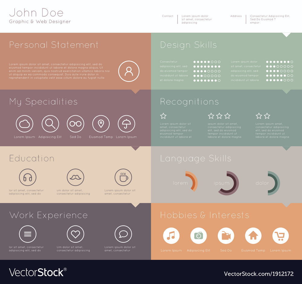 Simple template for you resume vector