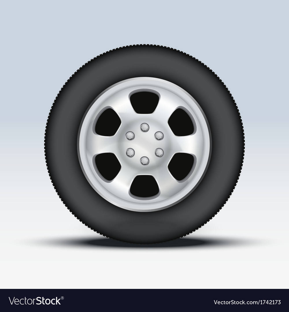 Wheel of car vector
