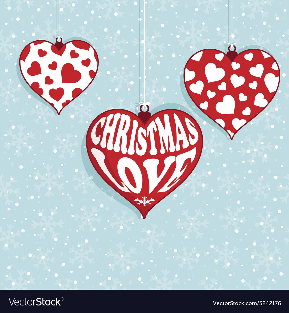 Christmas love vector