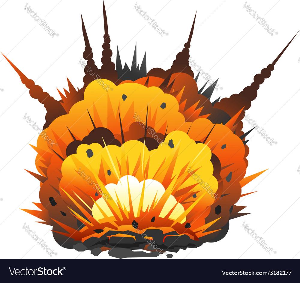 Cartoon bomb explosion vector