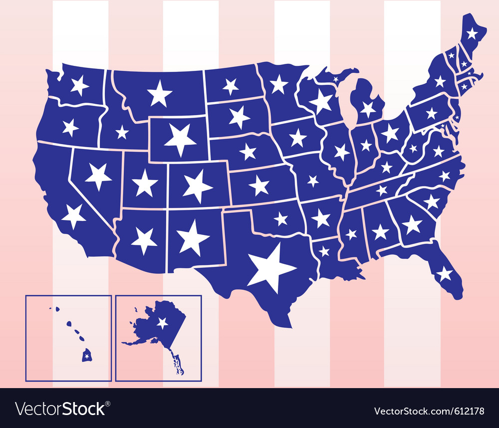 Map of the united states of america vector