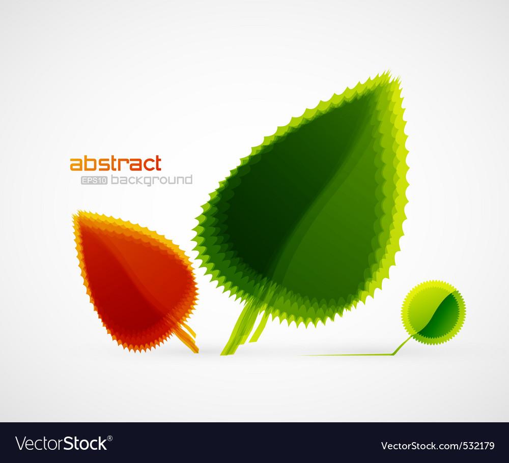 Sun leaves vector