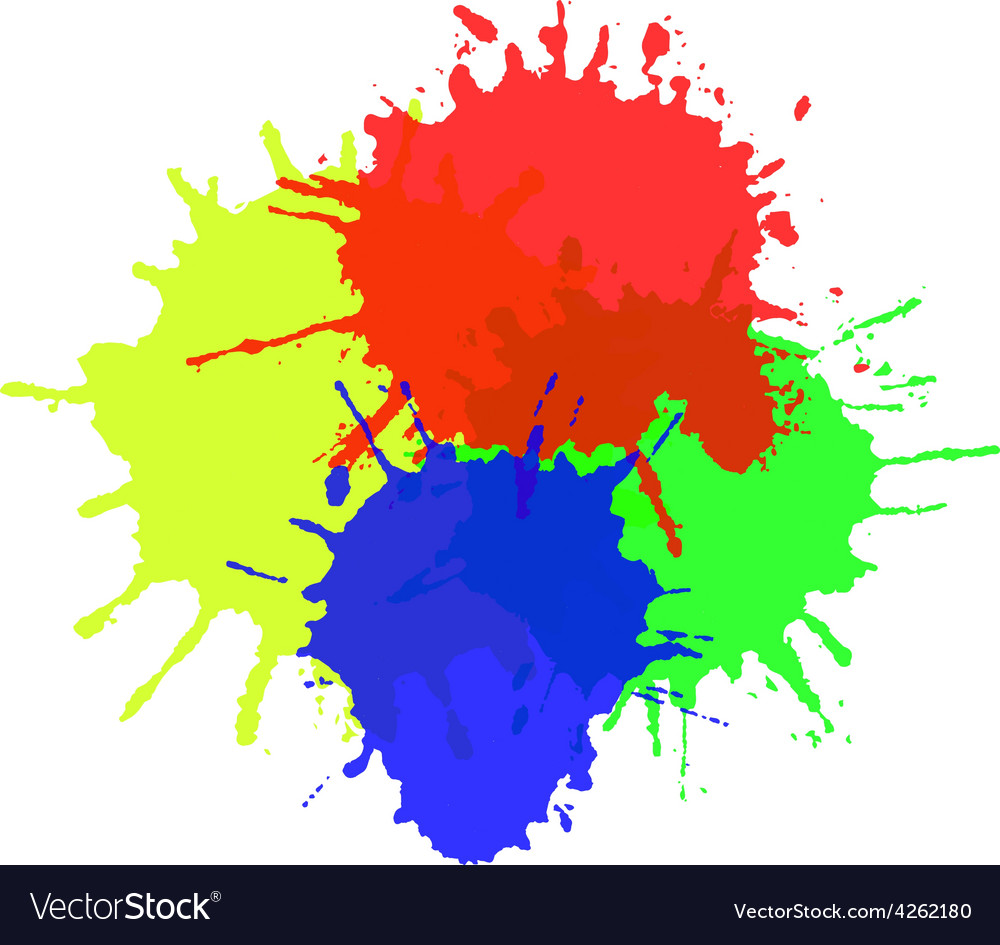 Watercolor splats isolated on white background vector