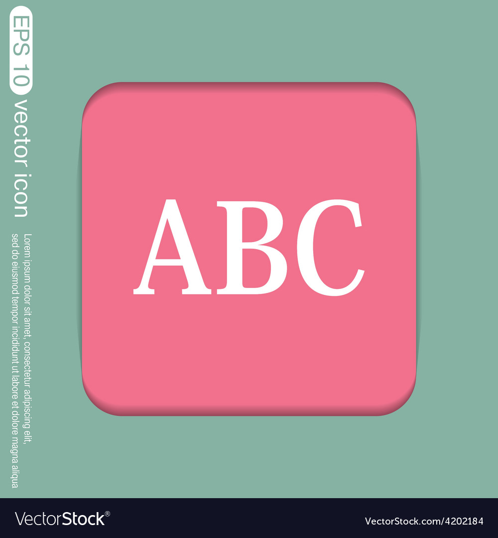 Letters of the alphabet icon learning school vector