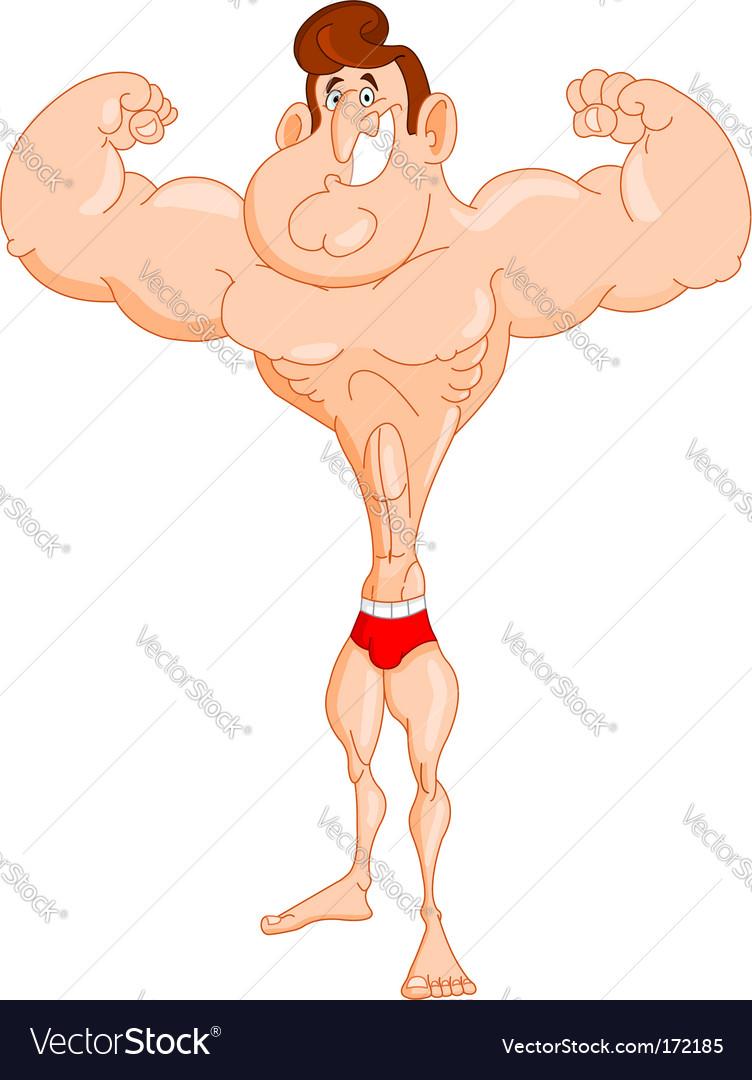 Muscle man vector