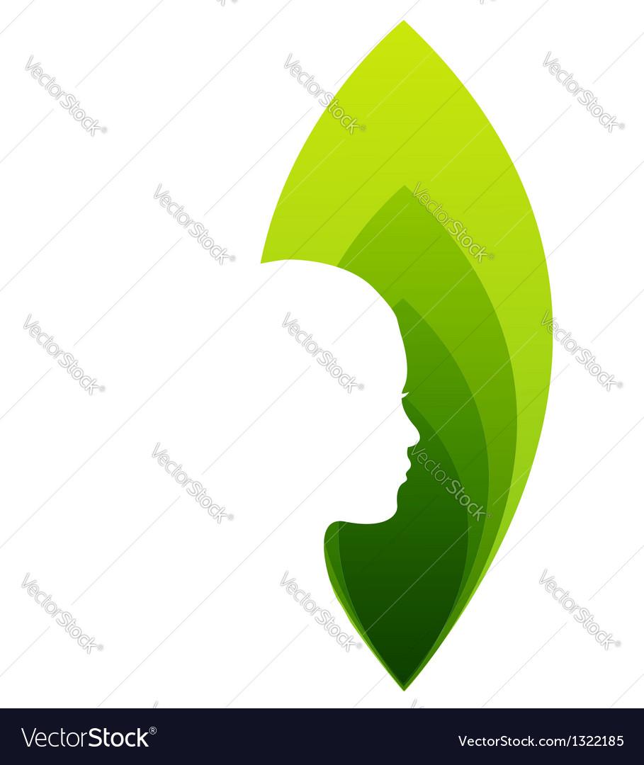 Organic beauty logo vector