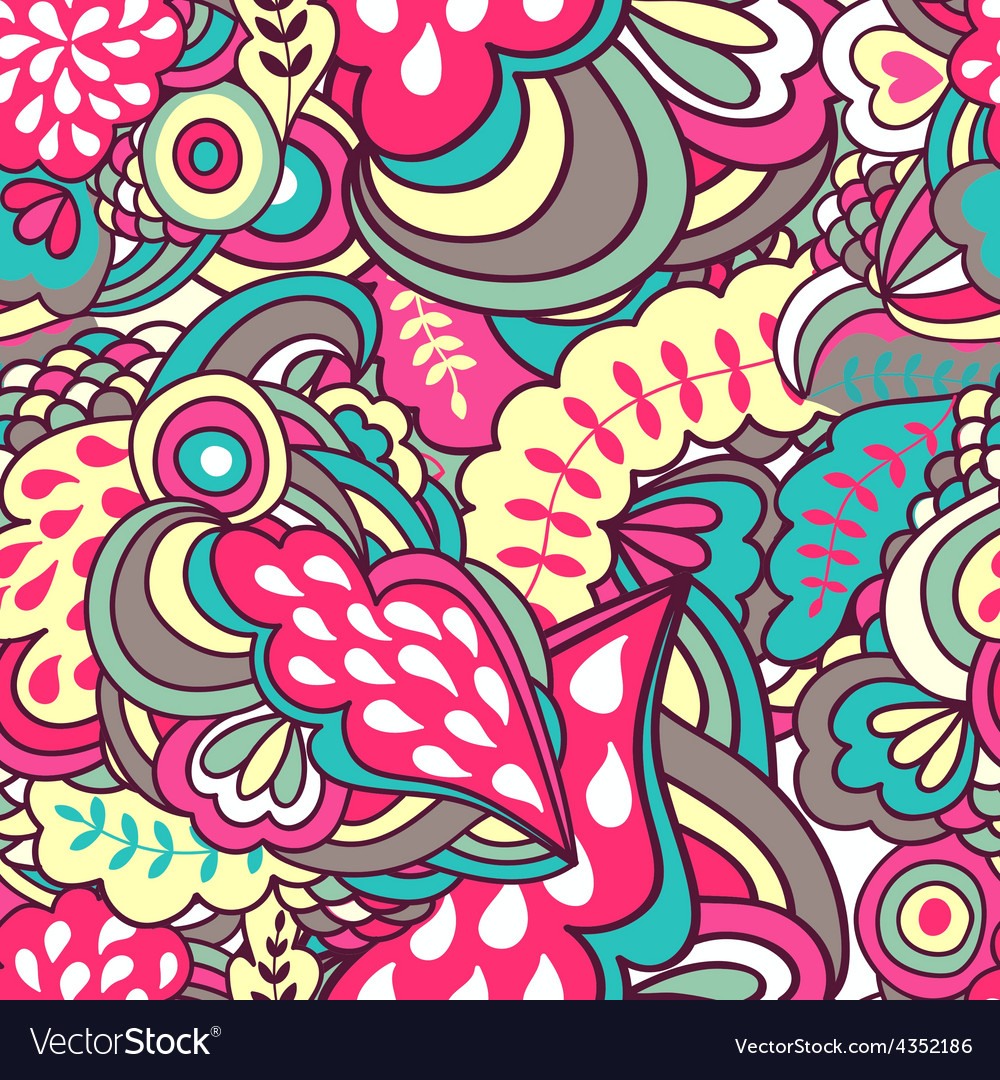 Fantasy abstract seamless pattern vector