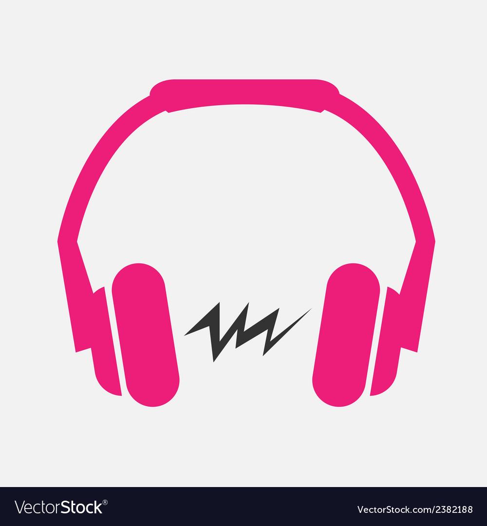Headphone flat icon vector
