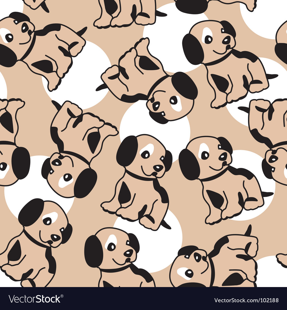 Puppy background vector