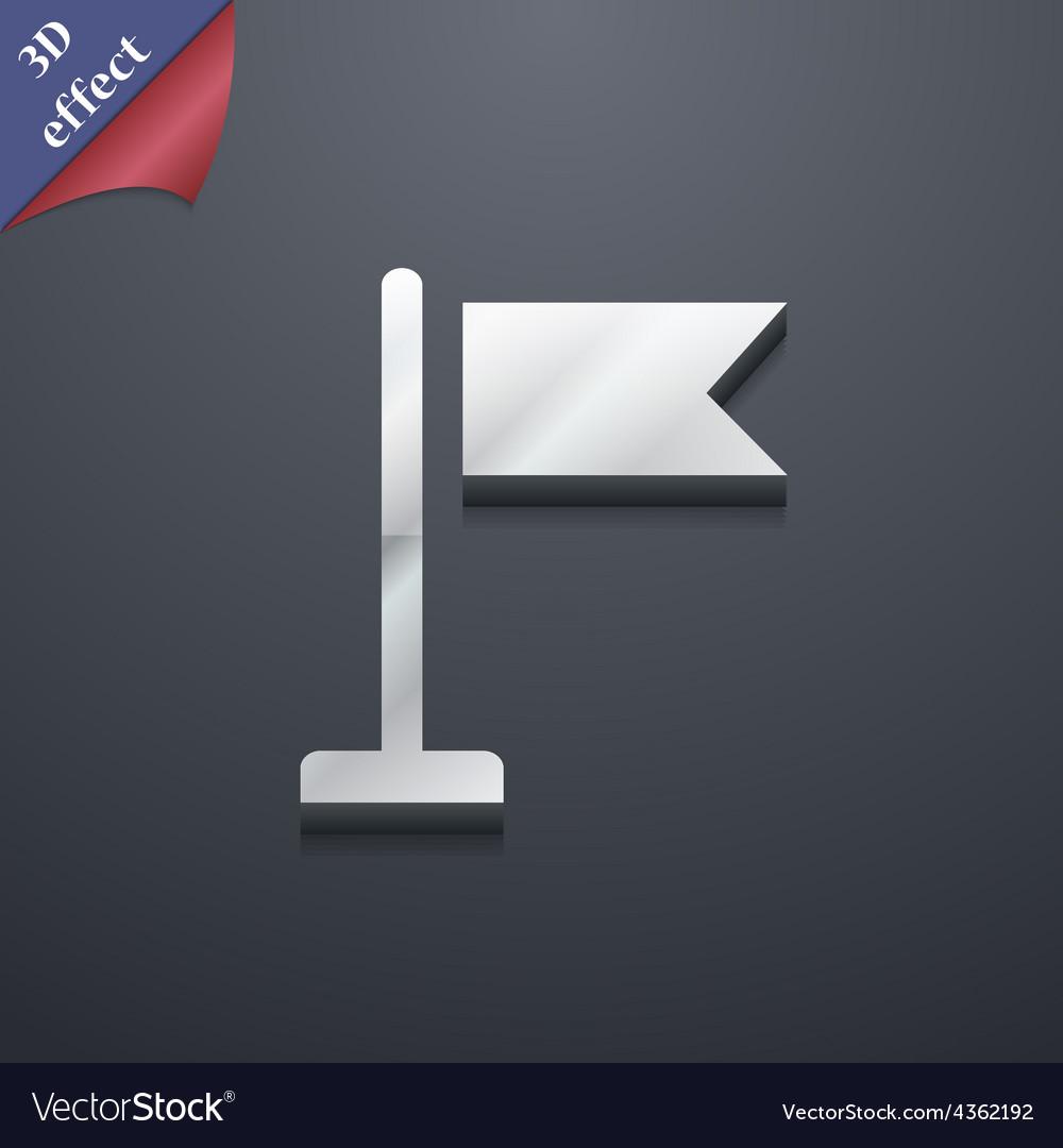 Flag icon symbol 3d style trendy modern design vector