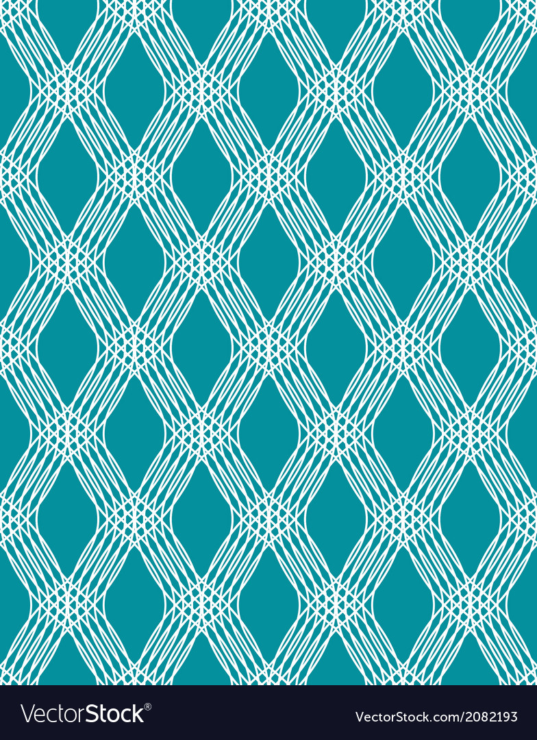 Abstract white line seamless pattern on blue vector