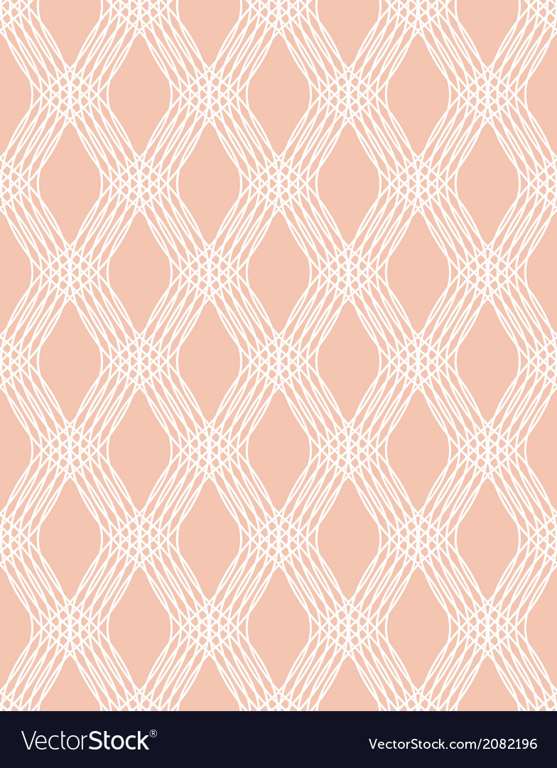 Abstract white line seamless pattern on pink vector