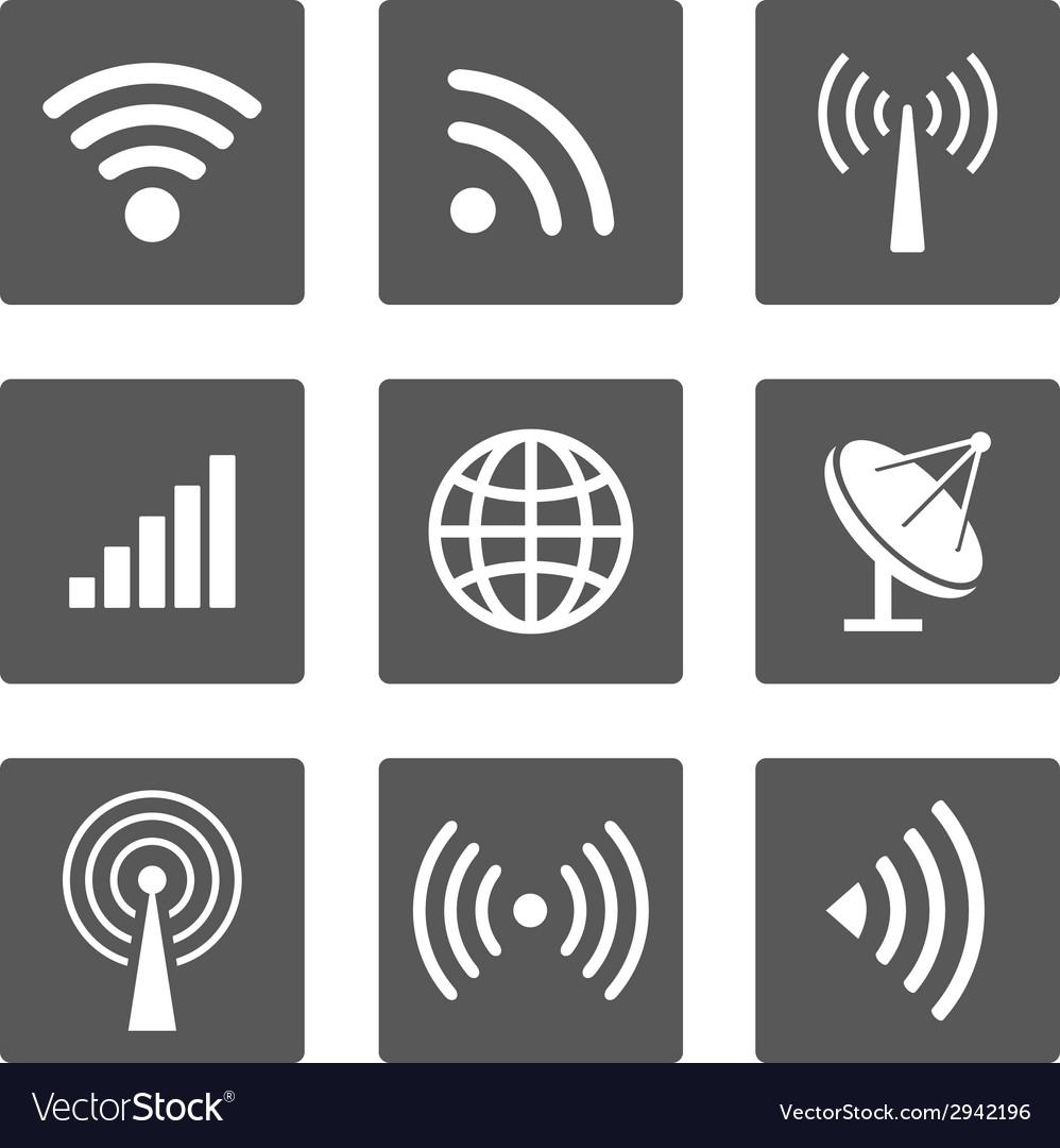 Wireless icons vector