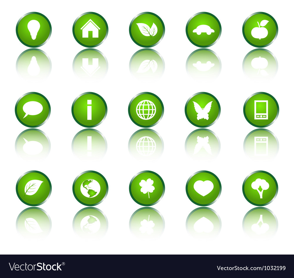 Collection of ecological icons vector