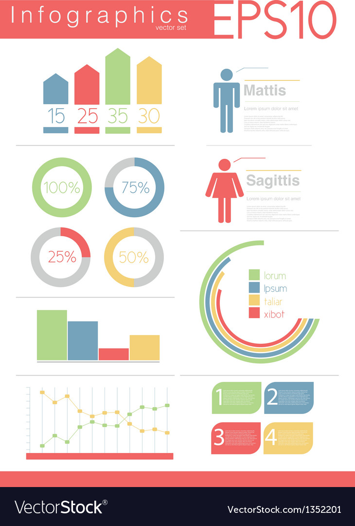 Information graphics design elements set vector