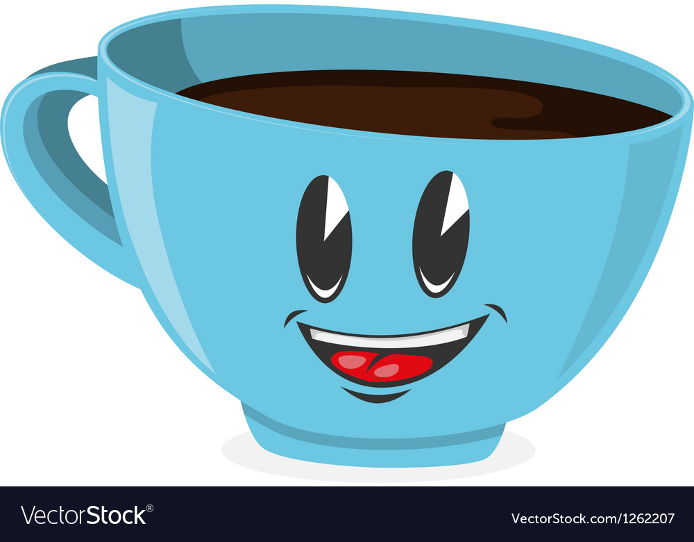 Cute cup of coffee vector