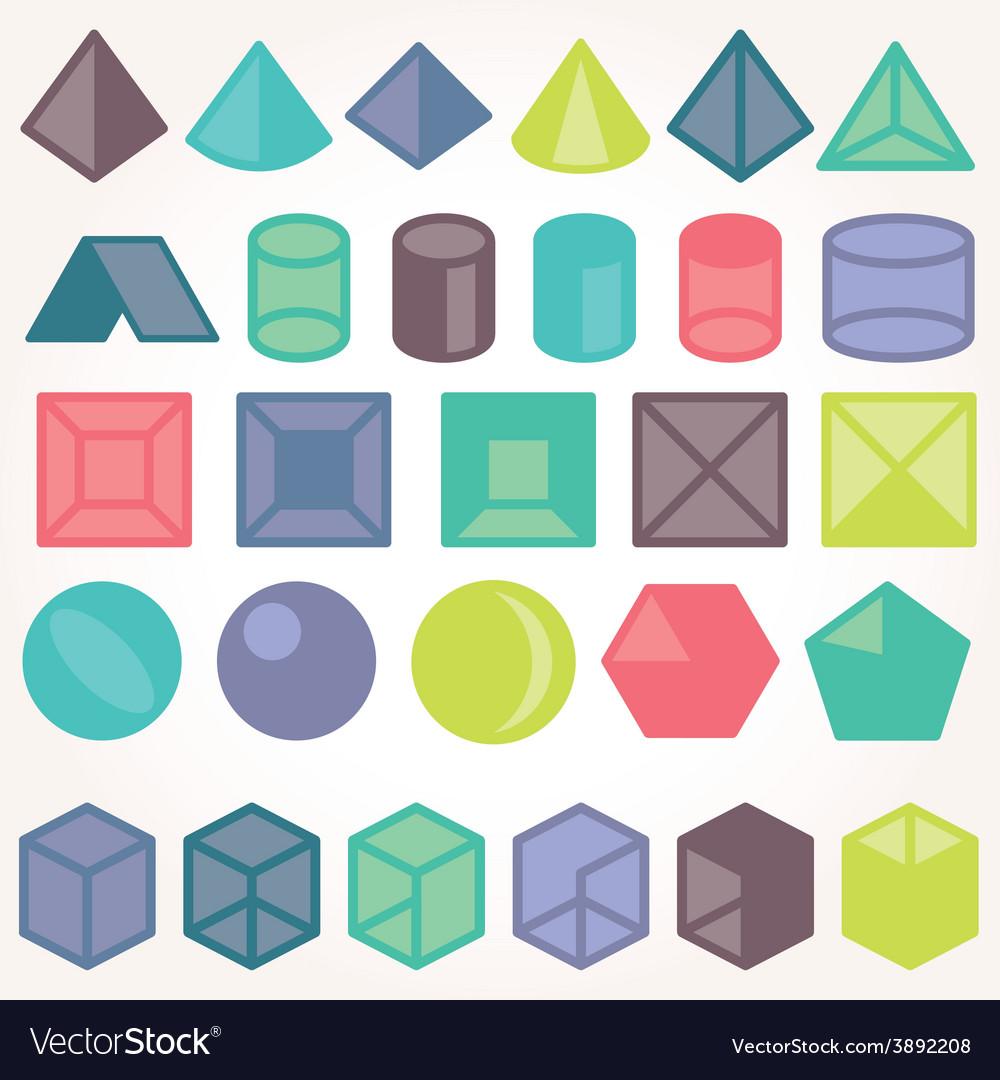 Set of icons geometric logo vector