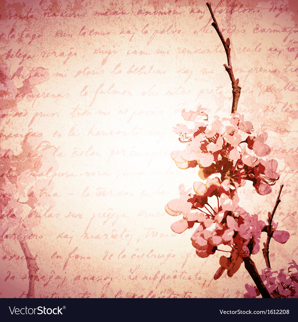 Vintage spring blossom vector