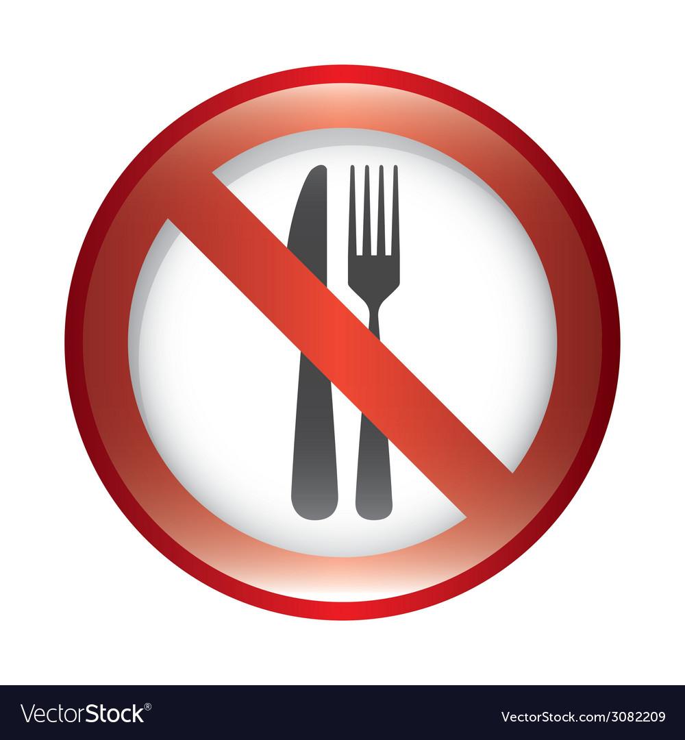Dont food design vector