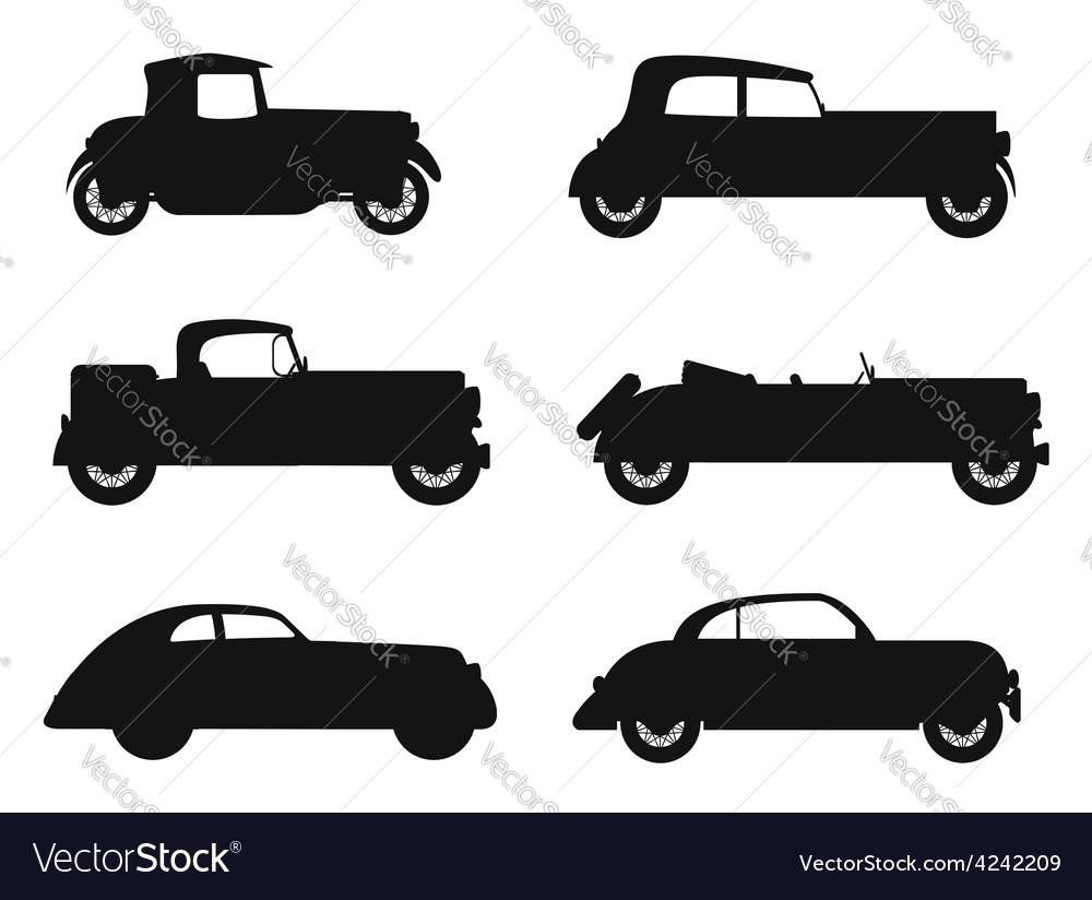 Old retro car 07 vector