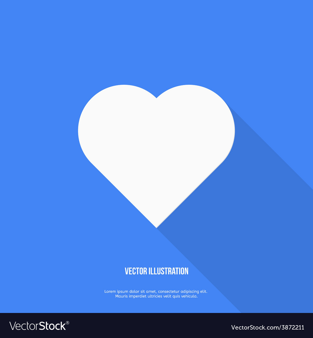 Heart web icon flat design vector