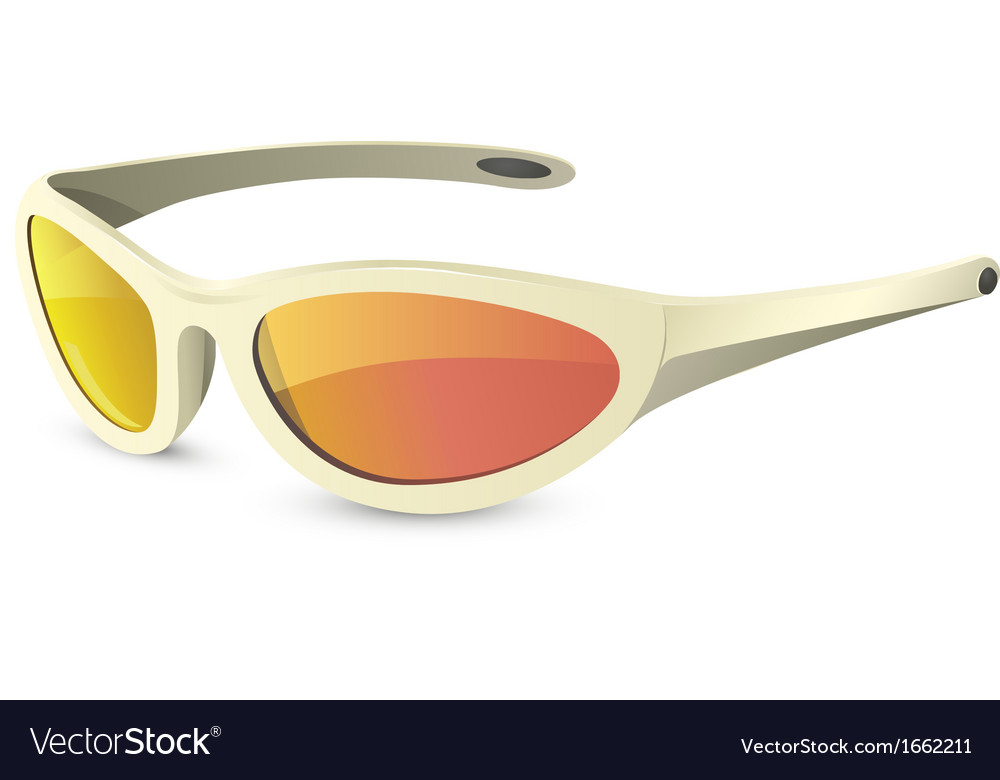 Sun protection glasses vector
