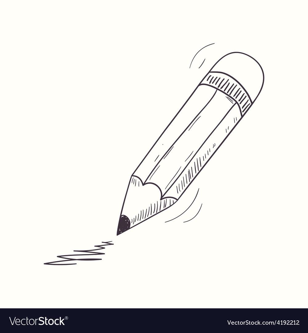 Sketched pencil desktop icon vector