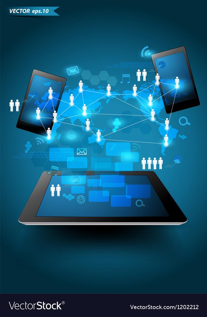 Technology business vector