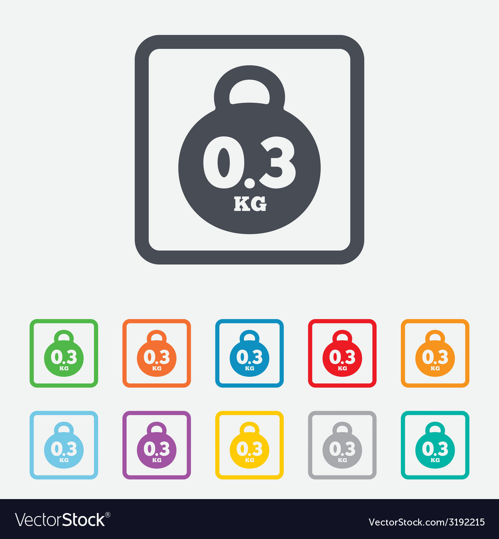 Weight sign icon 03 kilogram kg mail weight vector