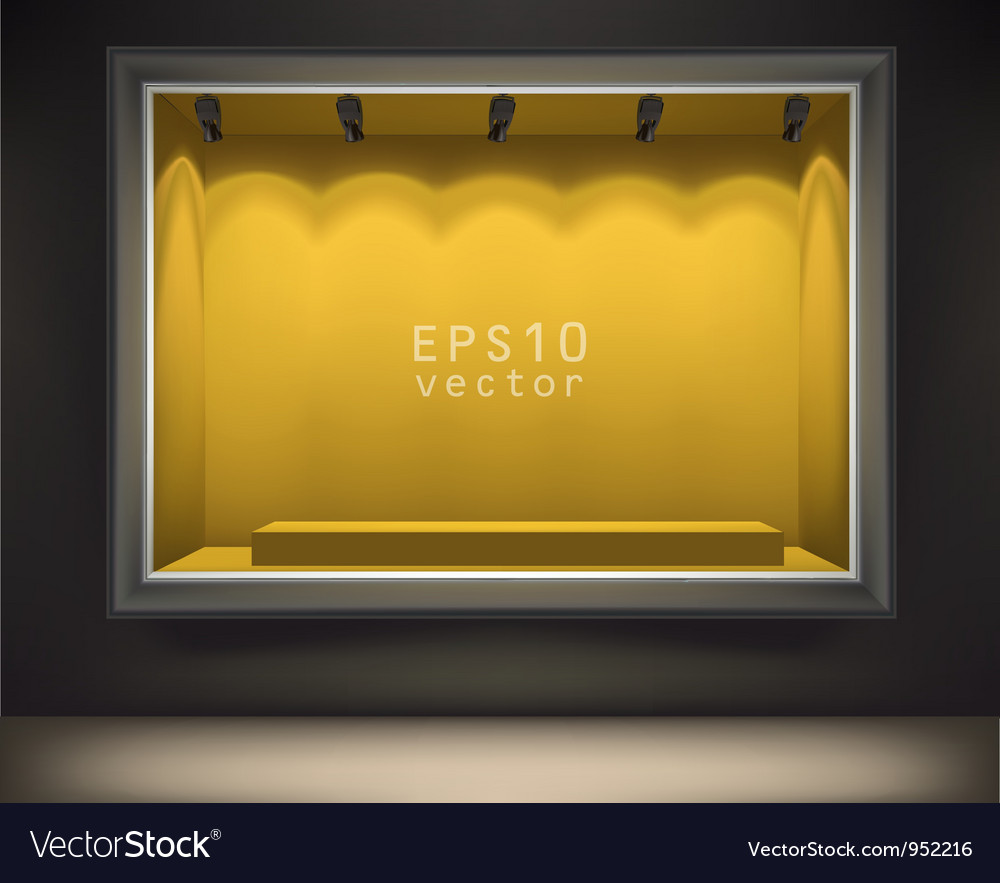 Empty front display vector