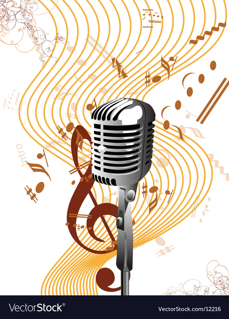 Mic background vector