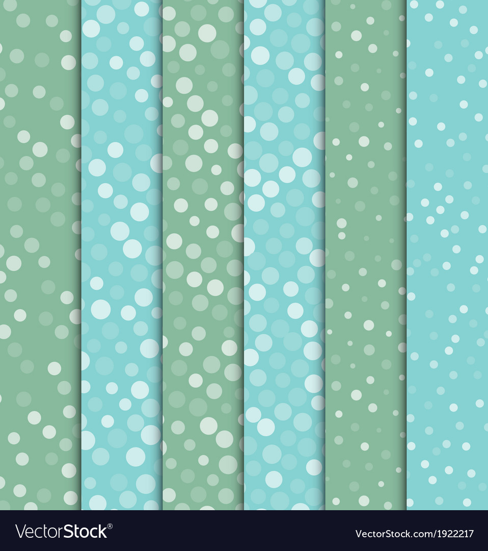 Seamless polka dot patterns background vector