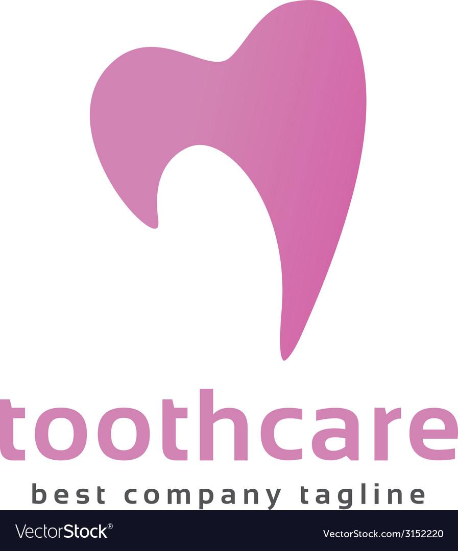 Abstract dental tooth logo icon concept logotype vector