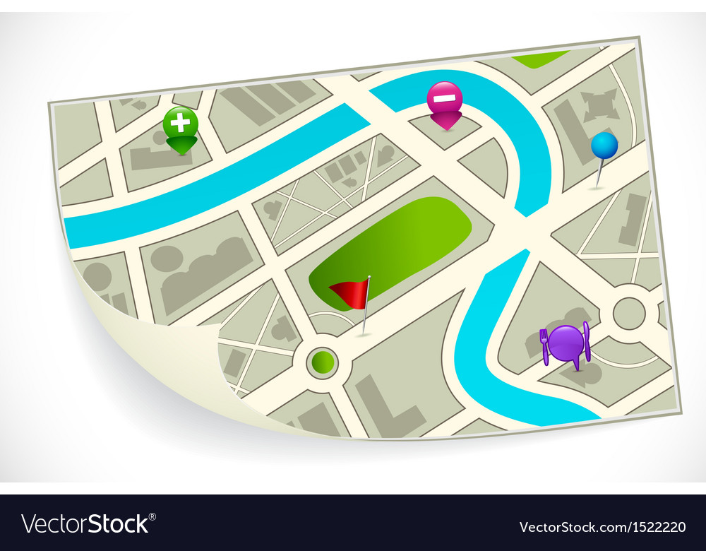 Road route map vector