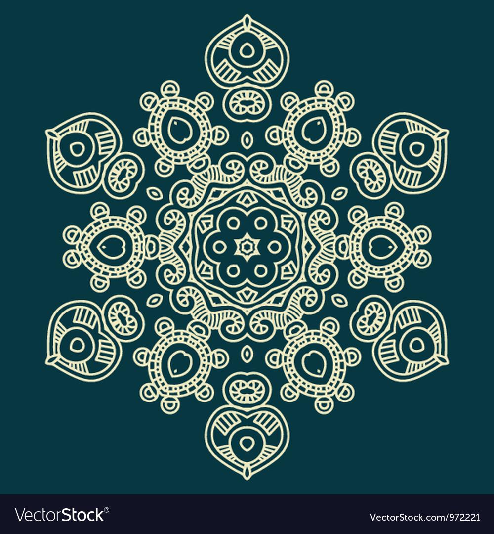 Design snowflake vector