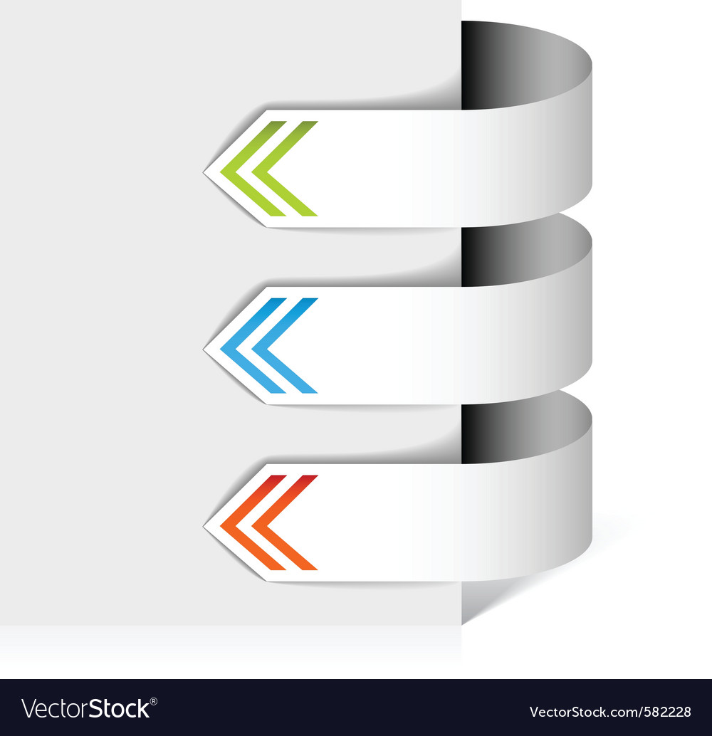 White arrows vector