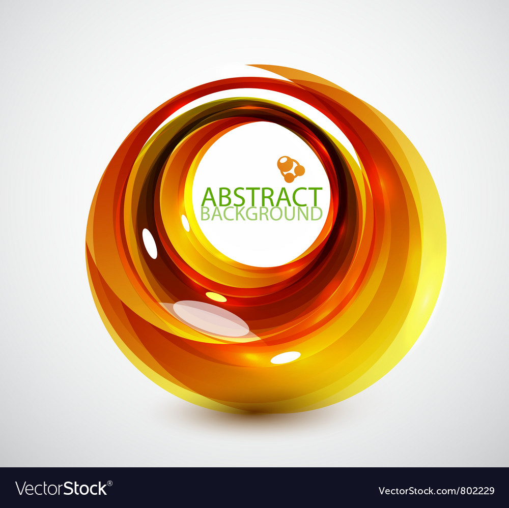 Abstract orange swirl background vector