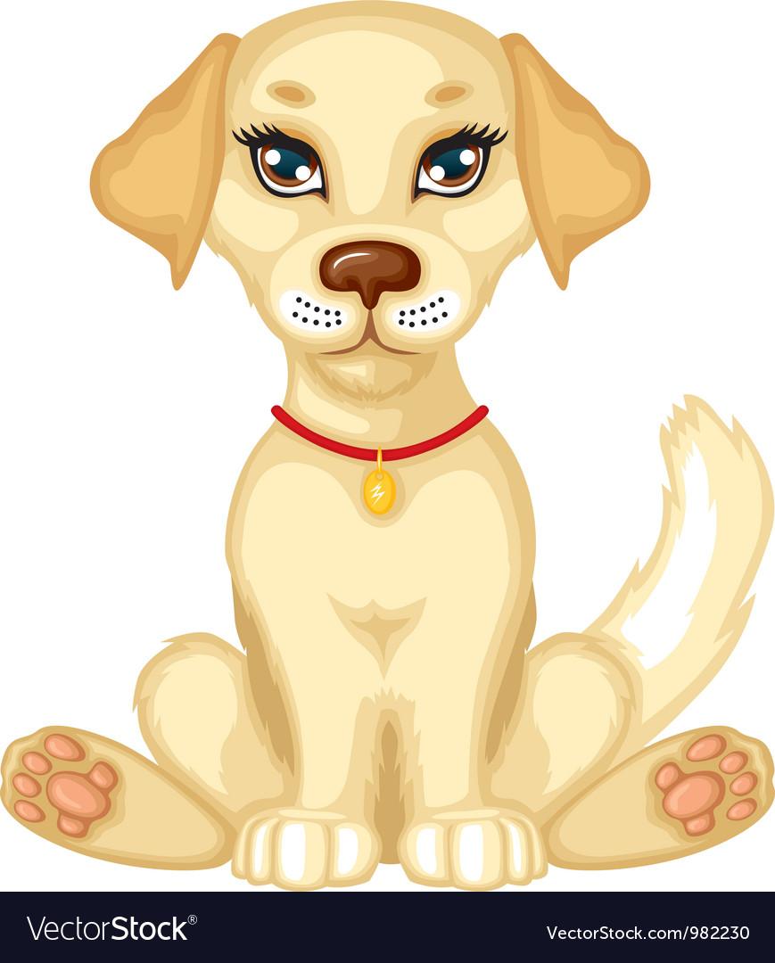 Pale puppy vector