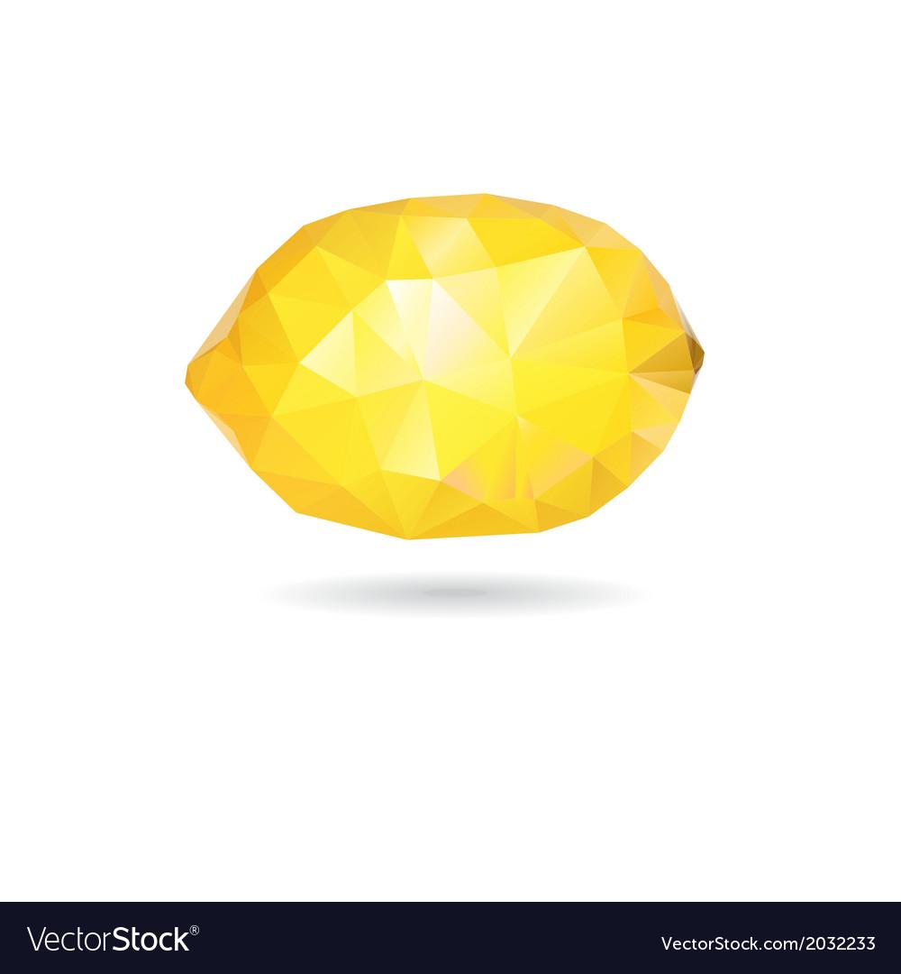 Graphic lemon yellow triangle vector