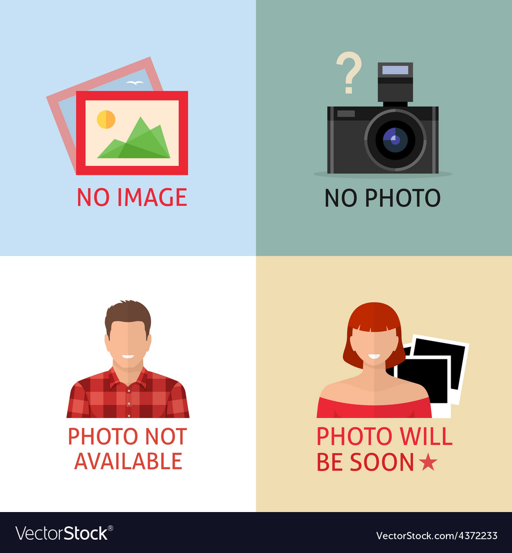 No image or photo signs for web page vector