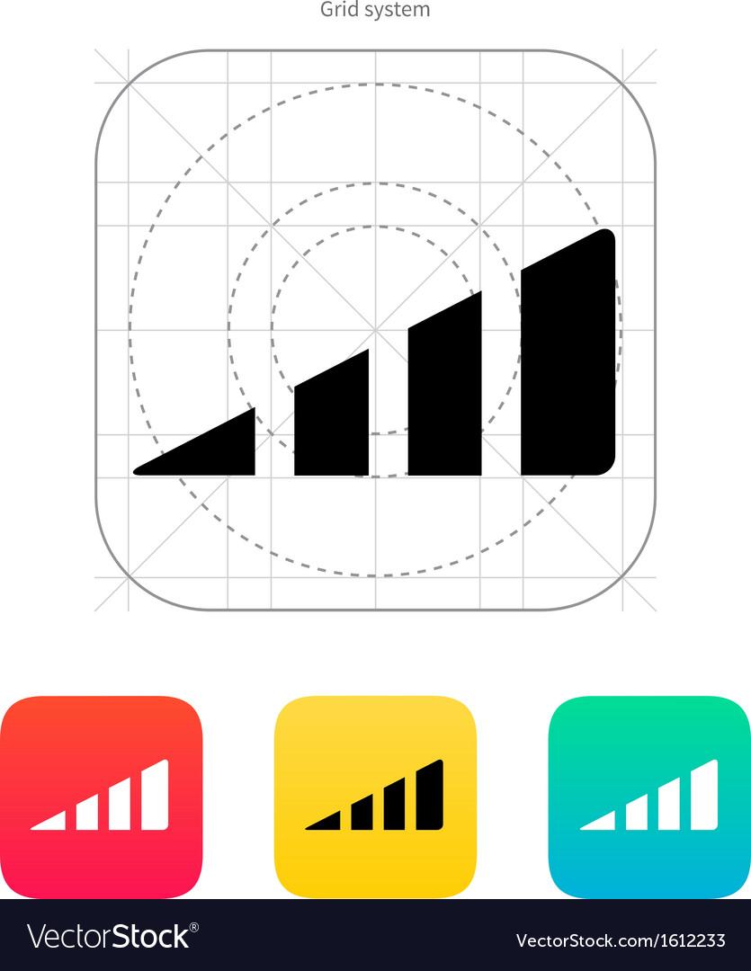 Volume control indicator icon vector
