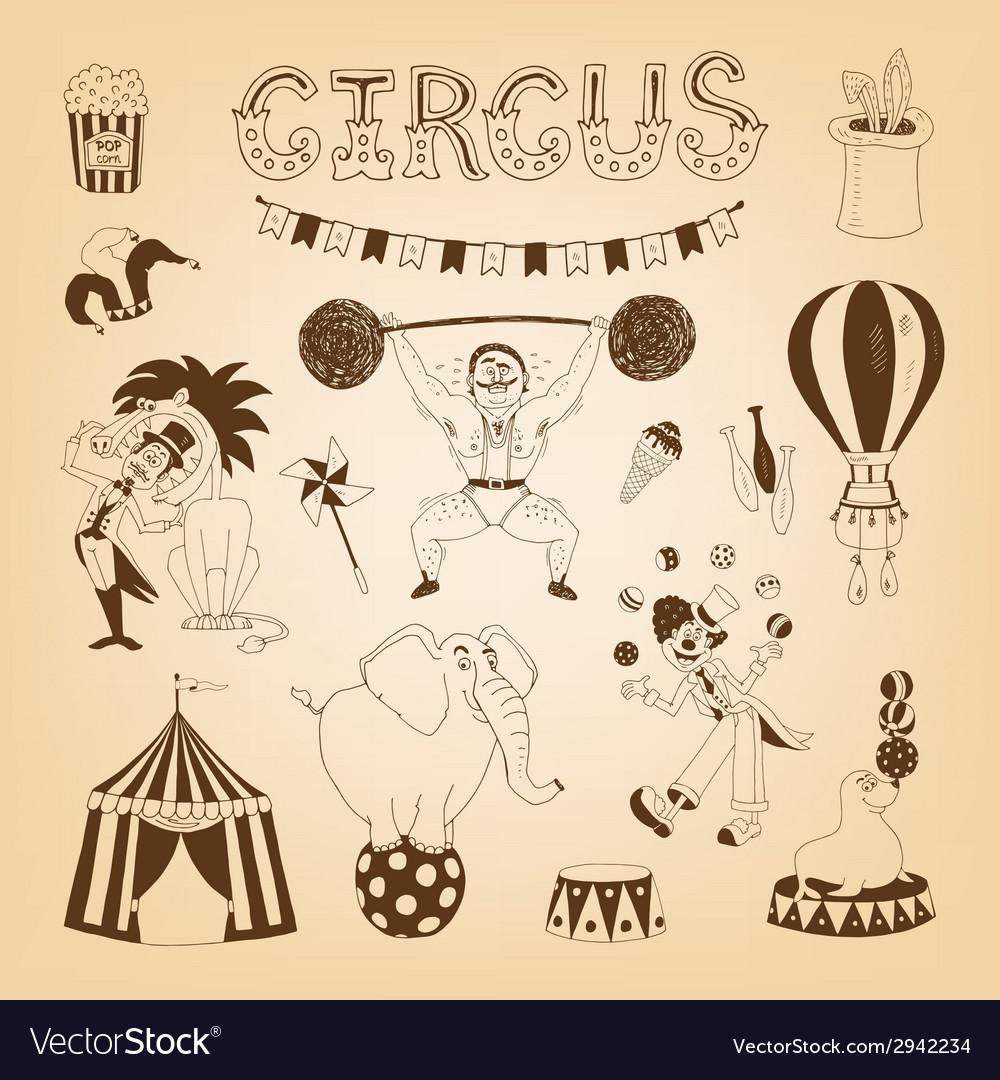 Circus design elements vector